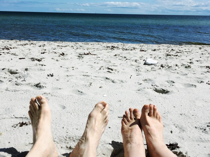 Barefoot walking on the beach strengthens your ankles
